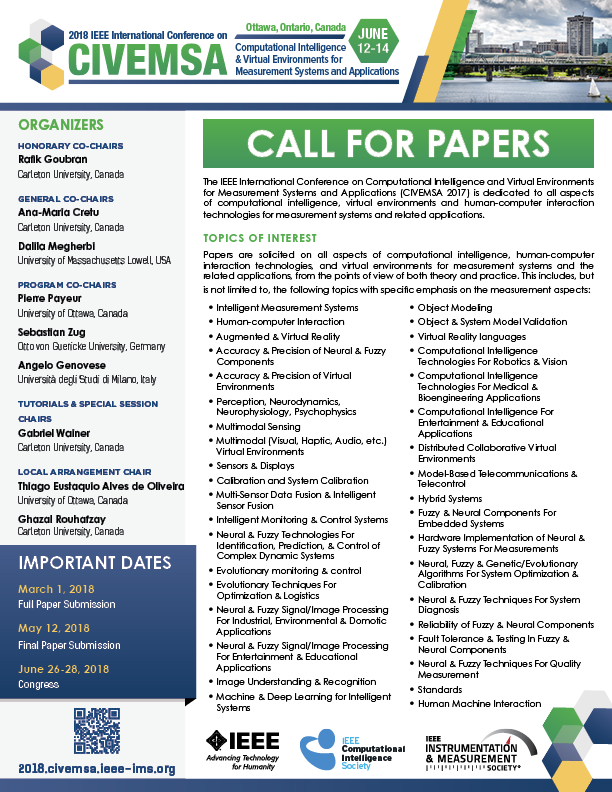 CIVEMSA 2018 Call for Papers Thumbnail